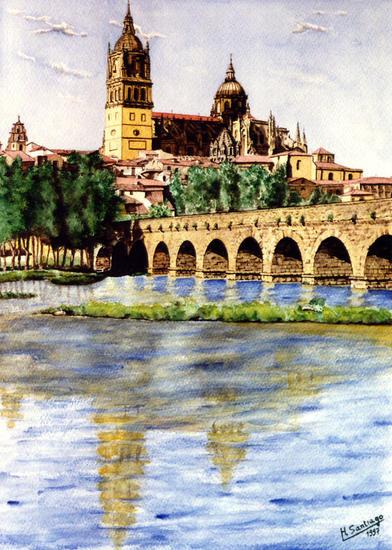 Salamanca Papel Acuarela Paisaje