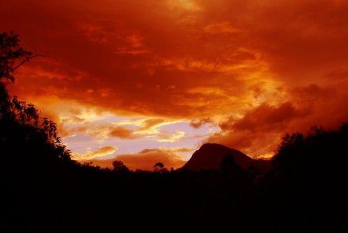 Landscape In Red Naturaleza Color (Digital)