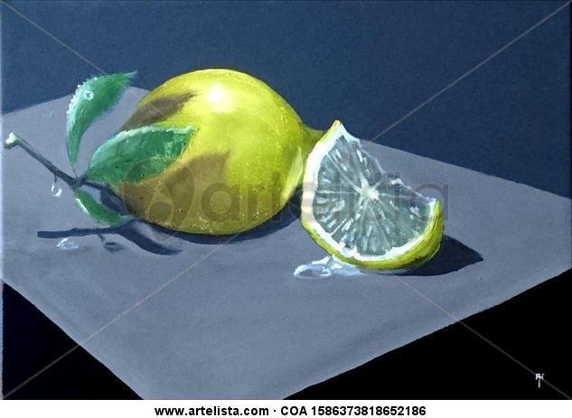 Limon Lienzo Óleo Bodegones