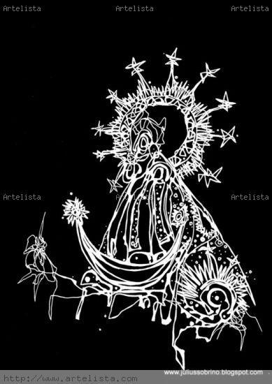 Virgen de la Candelaria Técnica Mixta