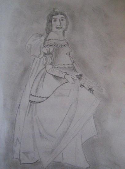 Mujer de época Lápiz