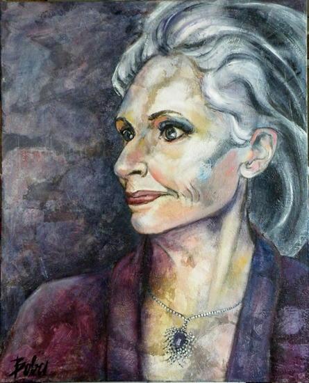Daphne Lienzo Acrílico Retrato