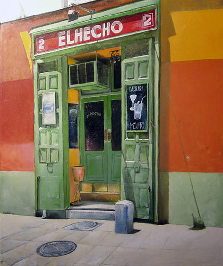 El Hecho-Madrid Canvas Oil Landscaping