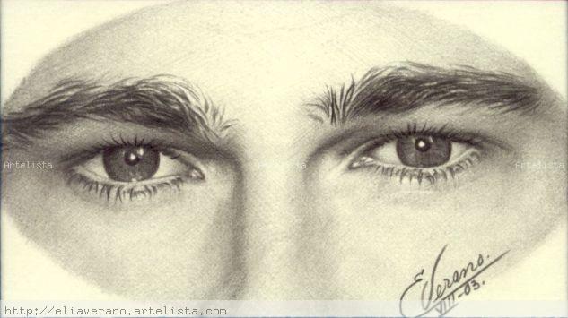 Ojos Brad Pitt2 Lápiz