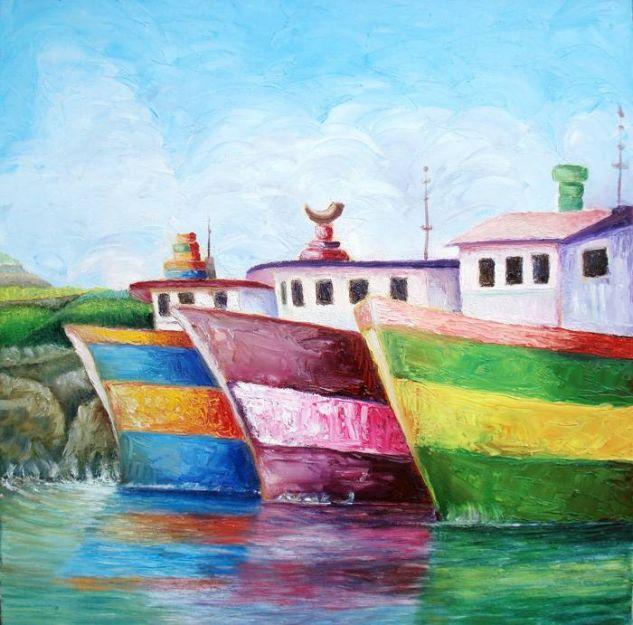 TRAVEL SCALE / ESCALA DE VIAJE Óleo Lienzo Marina
