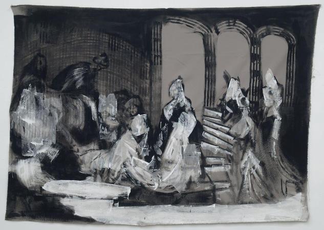 Esther before Asaherus Tela Industrial Otros