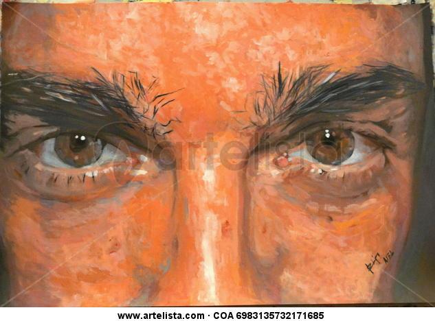 Autorretrato Card Oil Portrait