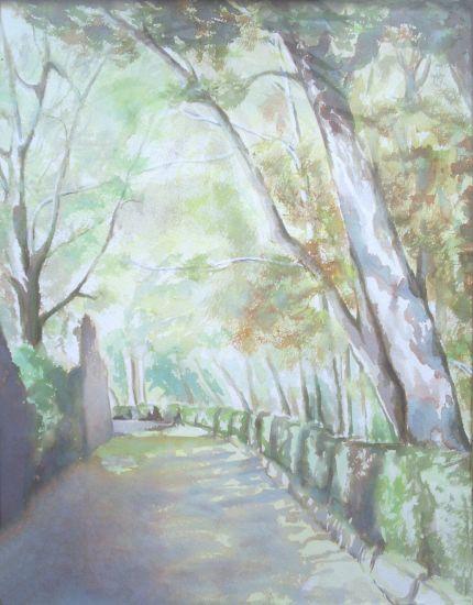 camino en la alhambra