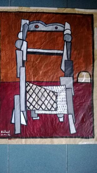silla 23 Papel Óleo Figura