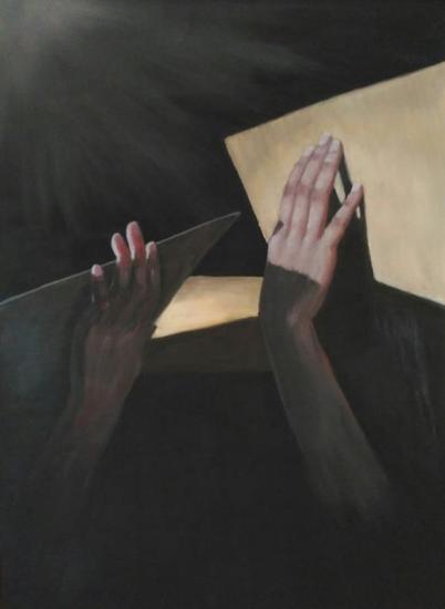 Recupera tu vida, by Nathalie Guichard Óleo Figura Tabla