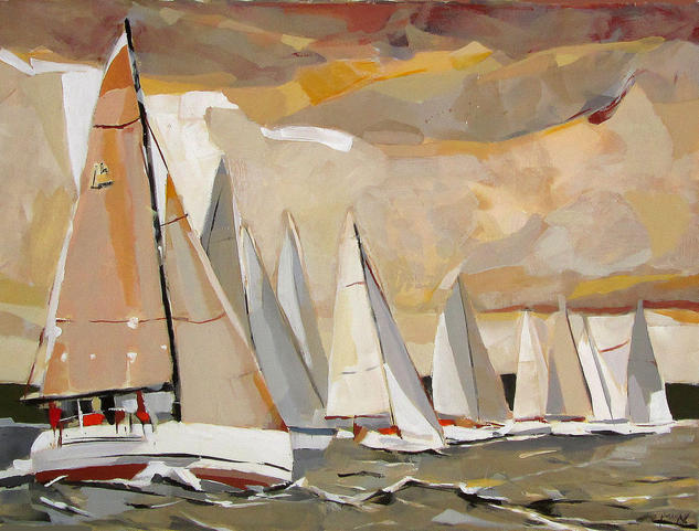 Fuerza 6 Canvas Acrylic Marine Painting