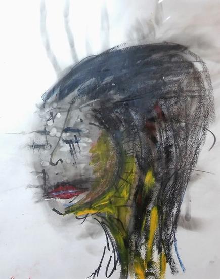 Máscara Papel Media Mixta Retrato