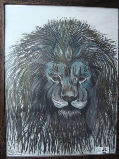 Rey sin reino Animales Grafito Papel
