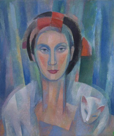 Mujer geométrica Gouache Otros Figura