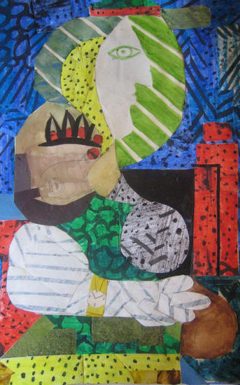 Collage de obra Picasso 2 Figura Cartulina