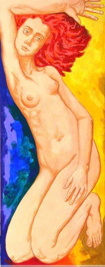 DESNUDO Acrylic Panel Figure Painting