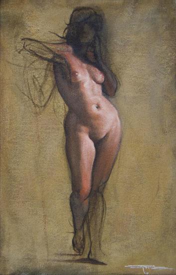 Estudio de desnudo Nude Paintings Oil Textile