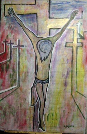 Cristo de Guadix II Acrylic Panel Figure Painting