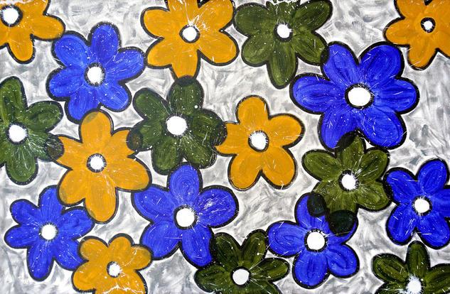 Composition No. 233 Floral Acrílico Lienzo
