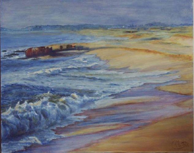 Playa del barco 2 Marine Painting Oil Panel