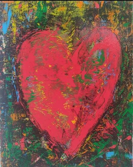 Corazón ( Heart)  Others Oil Canvas