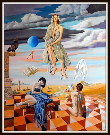 EL RECREO DE LAS MUSAS  Others Oil Canvas