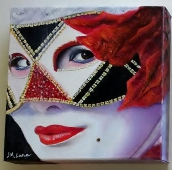 mascara veneciana Retrato Lienzo Óleo