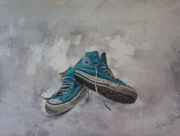Where are my old boots II ? Bodegones Óleo Tabla