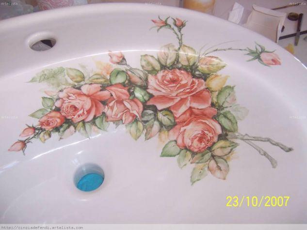 LAVABO ROSE SALMONE (dettaglio - detail)