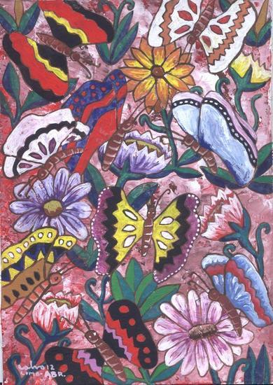 Jardín en los Andes Cartulina Gouache Floral