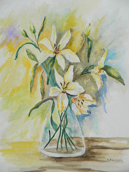lILIUMNS II Floral Acuarela Papel