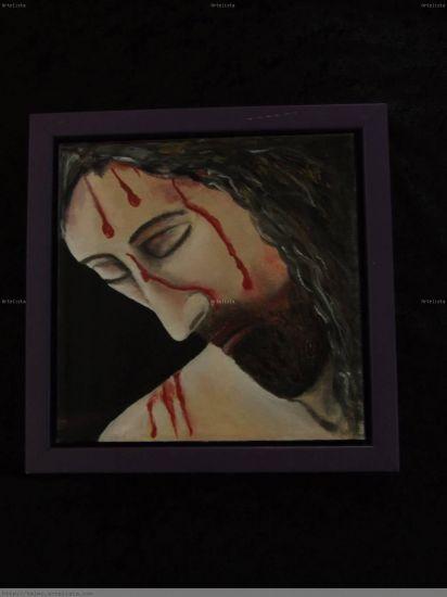 Cristo en agonia Paisaje Lienzo Óleo