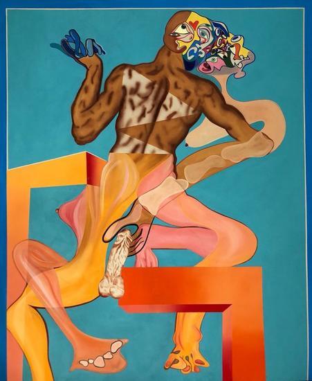 Pareja Masculino Femenino de Jared Buschang Desnudos Acrílico Tela