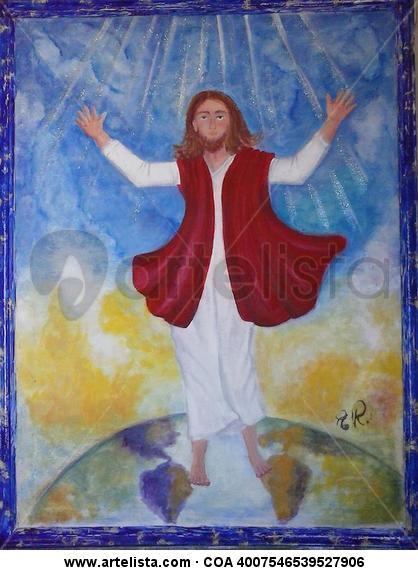 Jesus Figura Óleo Lienzo