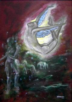 Sonho d'Anjo Acrylic Others Figure Painting