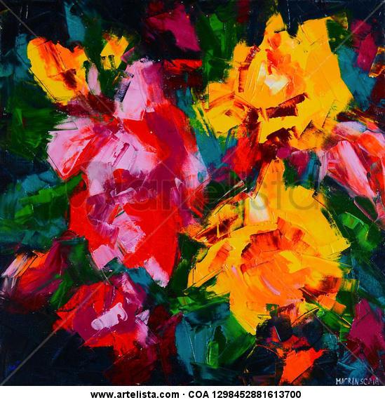 Sunflowers Lienzo Óleo Floral