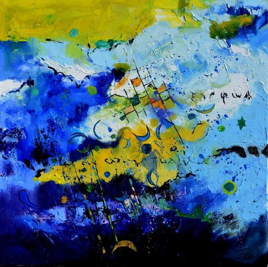 blue galaxy Lienzo Óleo Otros