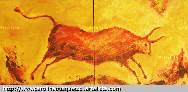 Serie Toros XI Animales Óleo Tela