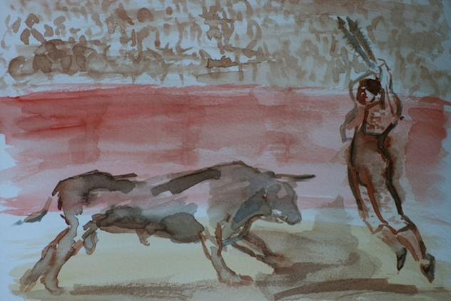 De toros y toreros, suerte de banderillas