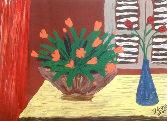 Decoracion  Floral Acrílico Lienzo