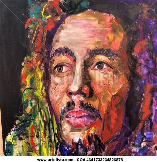 Bob Marley Panel Acrylic Portrait