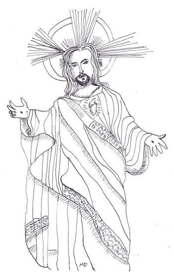 Em nome de Nosso Senhor Jesus Cristo Tinta