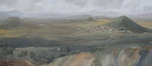 Cerro de Hita Lienzo Paisaje Media Mixta