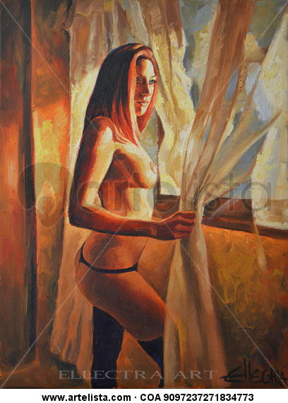 Confessions II Oil Nude Paintings Canvas