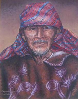 SABIDURIA. Oil Canvas Portrait