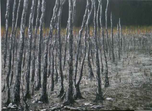 Una noche Landscaping Oil Canvas