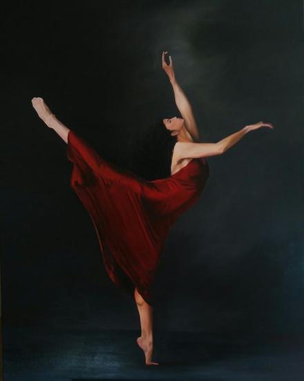 Danza roja Lienzo Óleo Figura