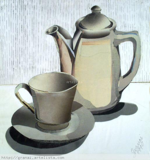 taza y cafetera