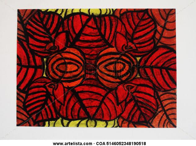 Hortensia Floral Pastel Cartulina