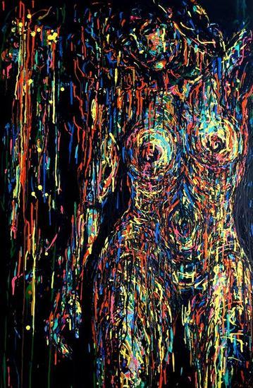 FRAGIL Canvas Acrylic Figure Painting